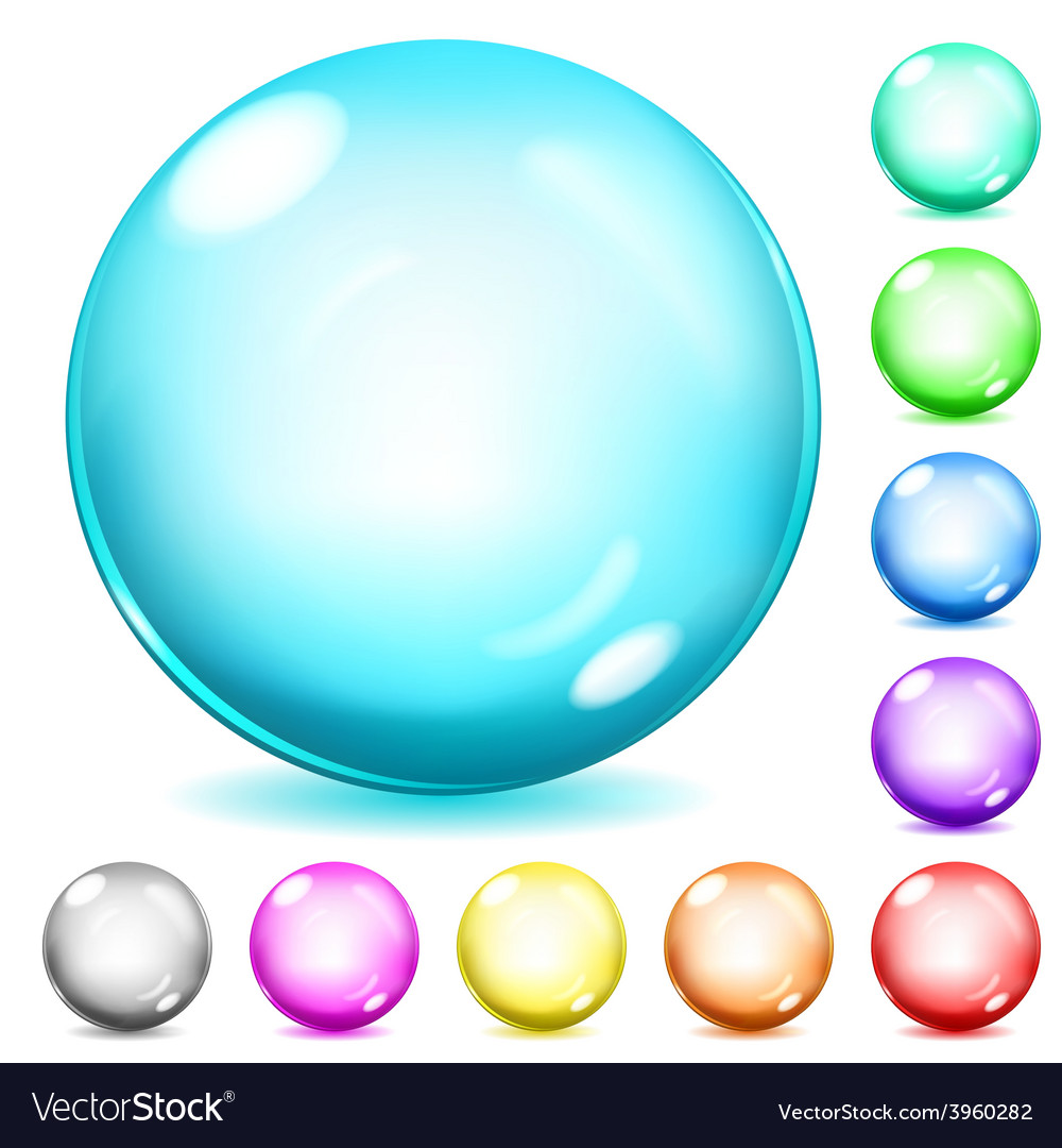 Multicolored opaque glass spheres vector | Price: 1 Credit (USD $1)