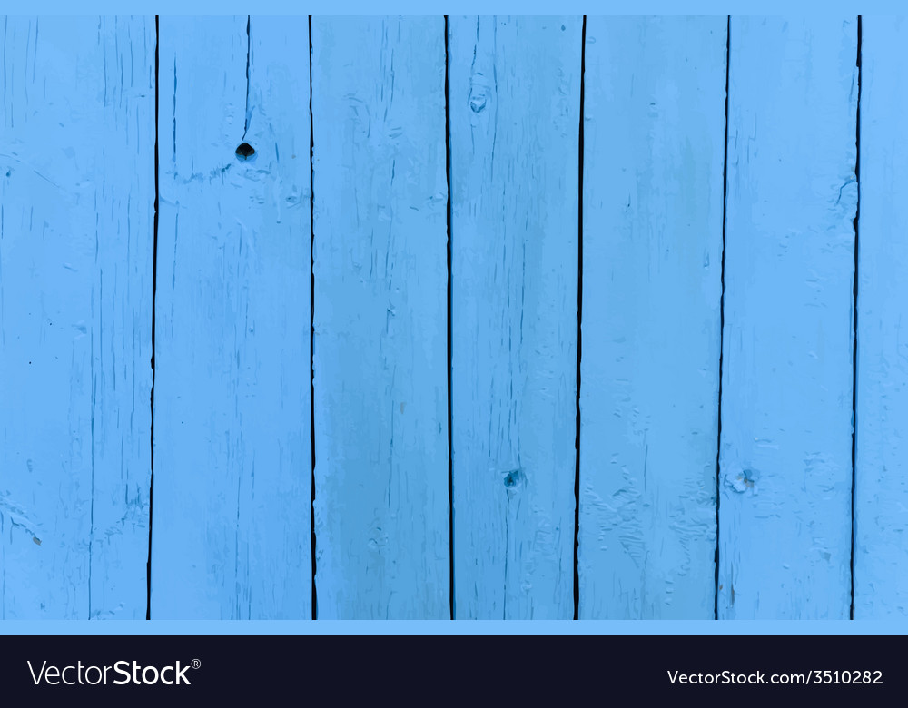 Realistic old wooden painted blue background vector | Price: 1 Credit (USD $1)