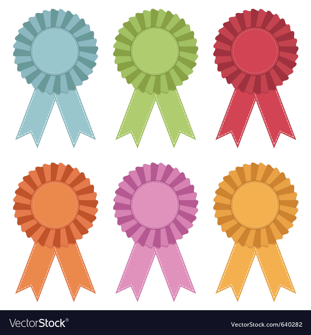 Rosettes with ribbons vector | Price: 3 Credit (USD $3)