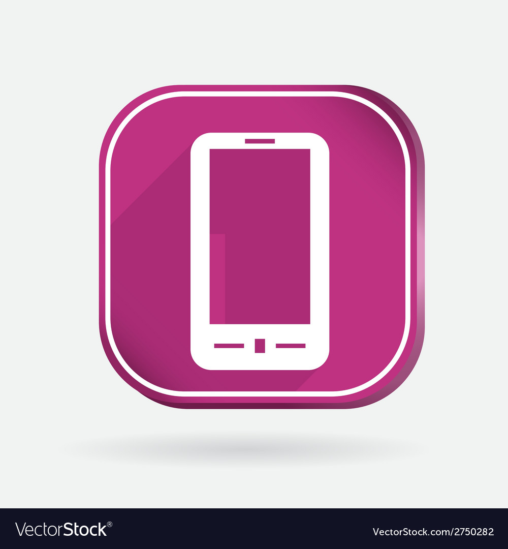 Smartphone color square icon vector | Price: 1 Credit (USD $1)