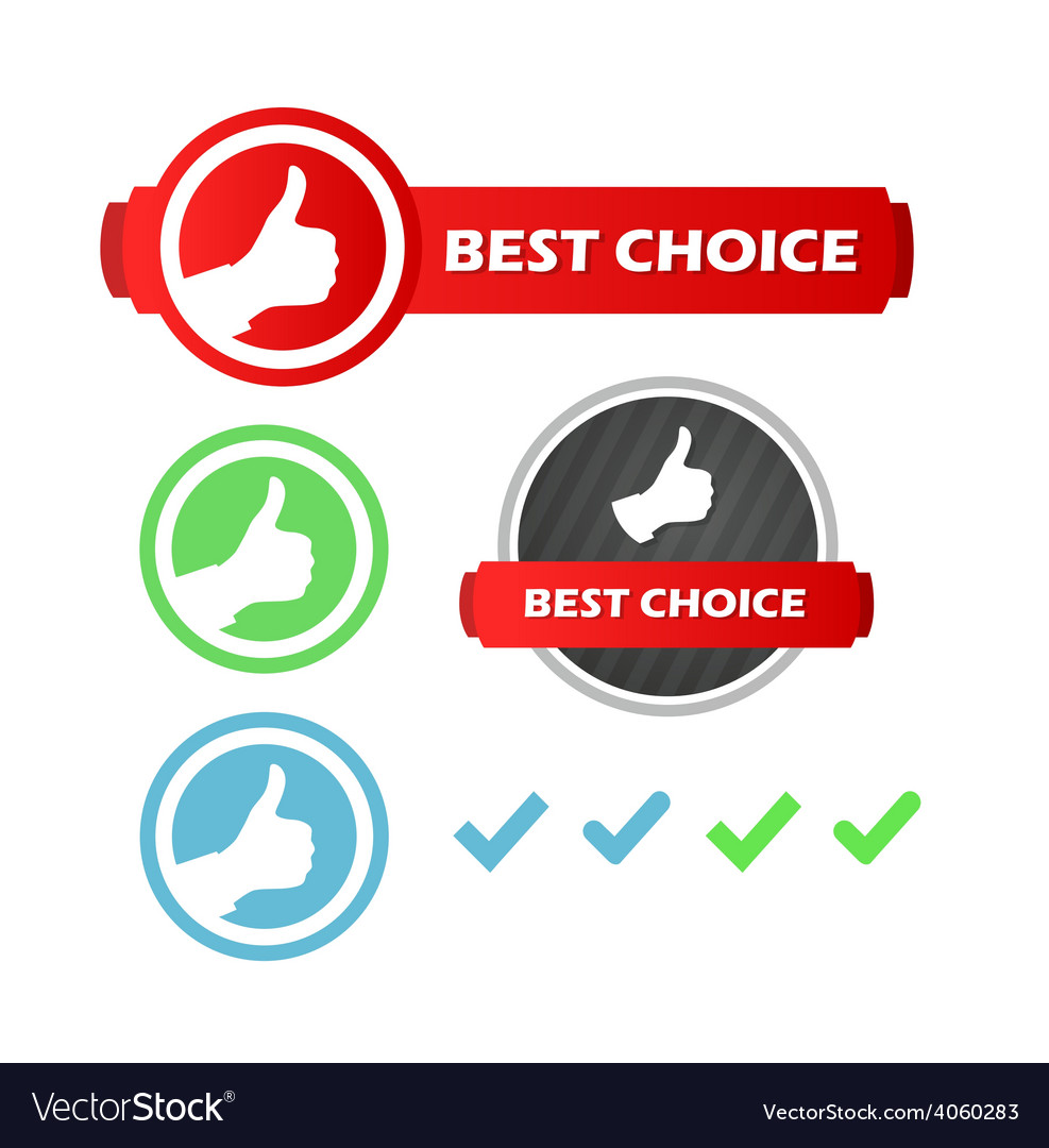 Best choice set of icons vector | Price: 1 Credit (USD $1)