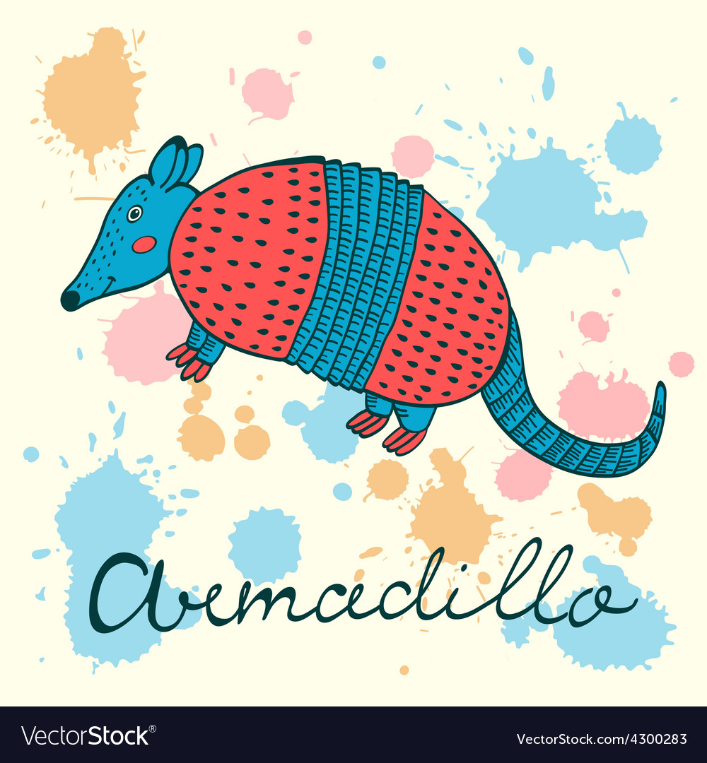 Cute armadillo vector | Price: 1 Credit (USD $1)