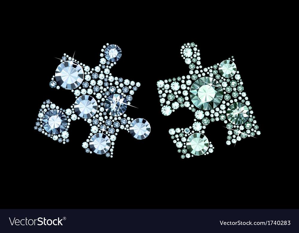 Diamond puzzle pieces vector | Price: 1 Credit (USD $1)