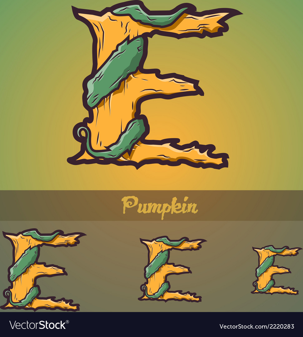 Halloween decorative alphabet - e letter vector | Price: 1 Credit (USD $1)