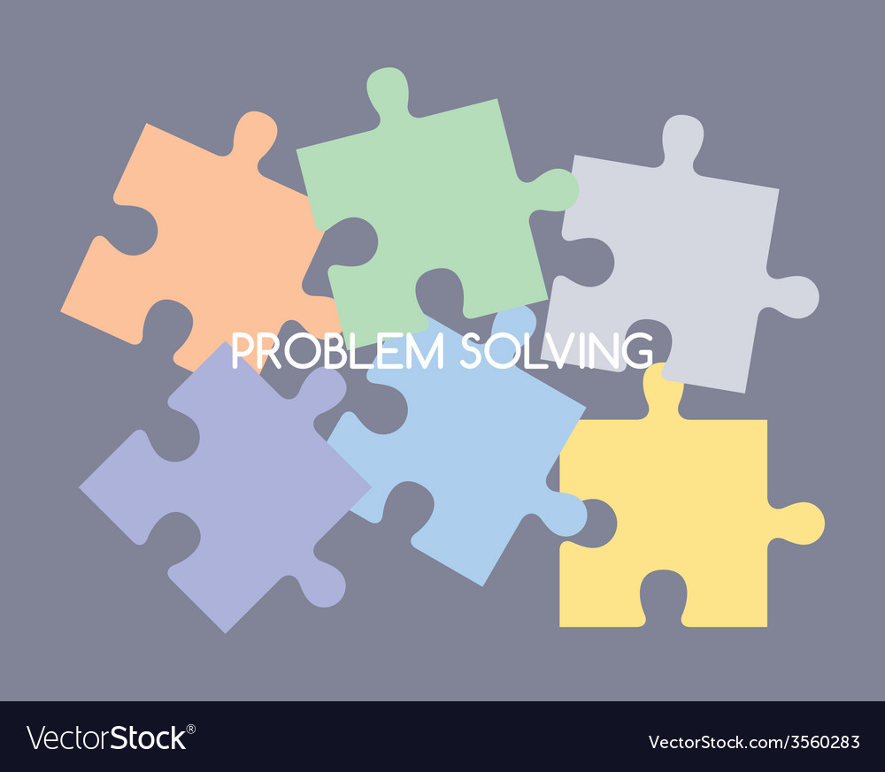 Puzzle problem solve vector | Price: 1 Credit (USD $1)