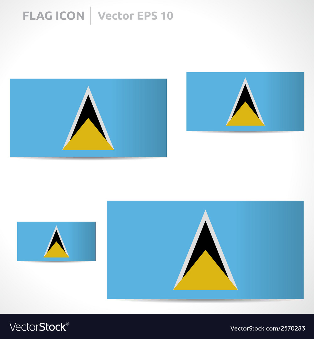 Saint lucia flag template vector | Price: 1 Credit (USD $1)