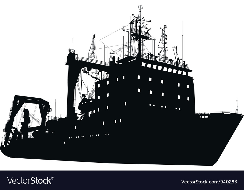 Ship silhouette vector | Price: 1 Credit (USD $1)