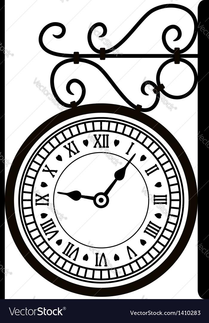 Street clock vector | Price: 1 Credit (USD $1)