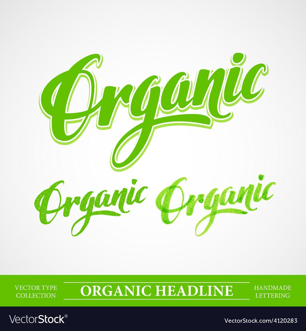 Title organic handmade lettering vector | Price: 3 Credit (USD $3)