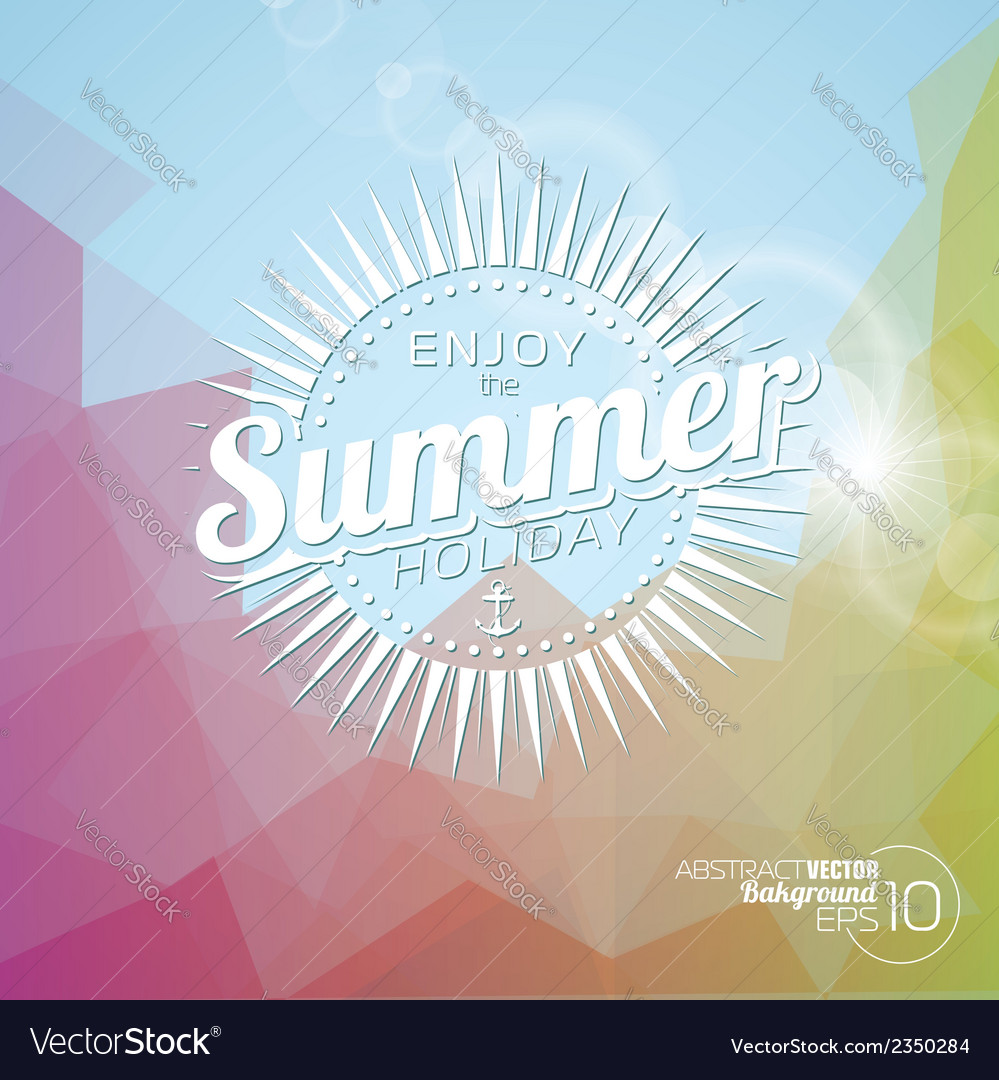 Background on a summer holiday theme vector | Price: 1 Credit (USD $1)