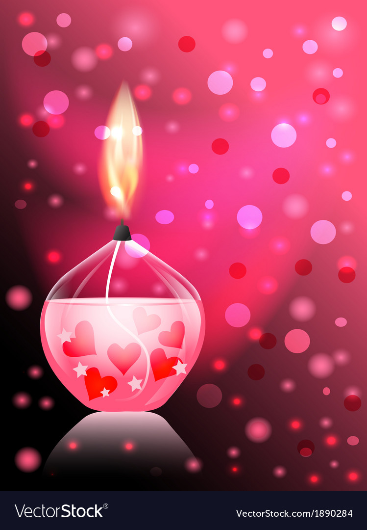 Candle romance vector | Price: 1 Credit (USD $1)