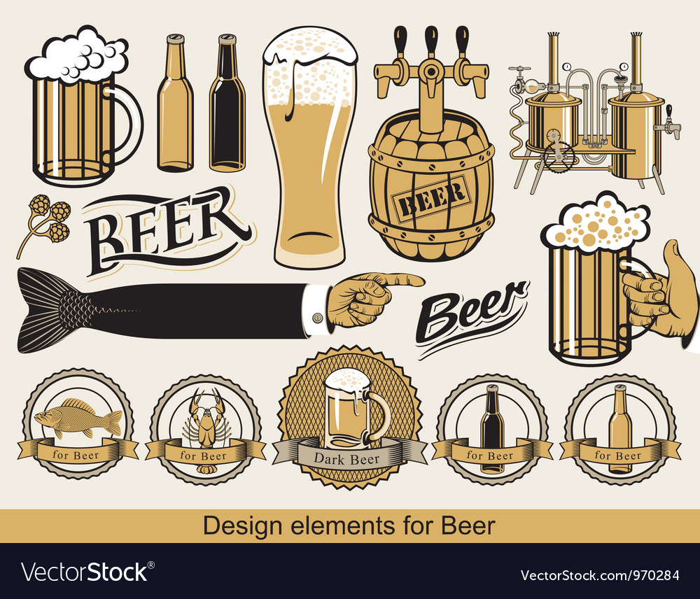 Design for beer vector | Price: 3 Credit (USD $3)