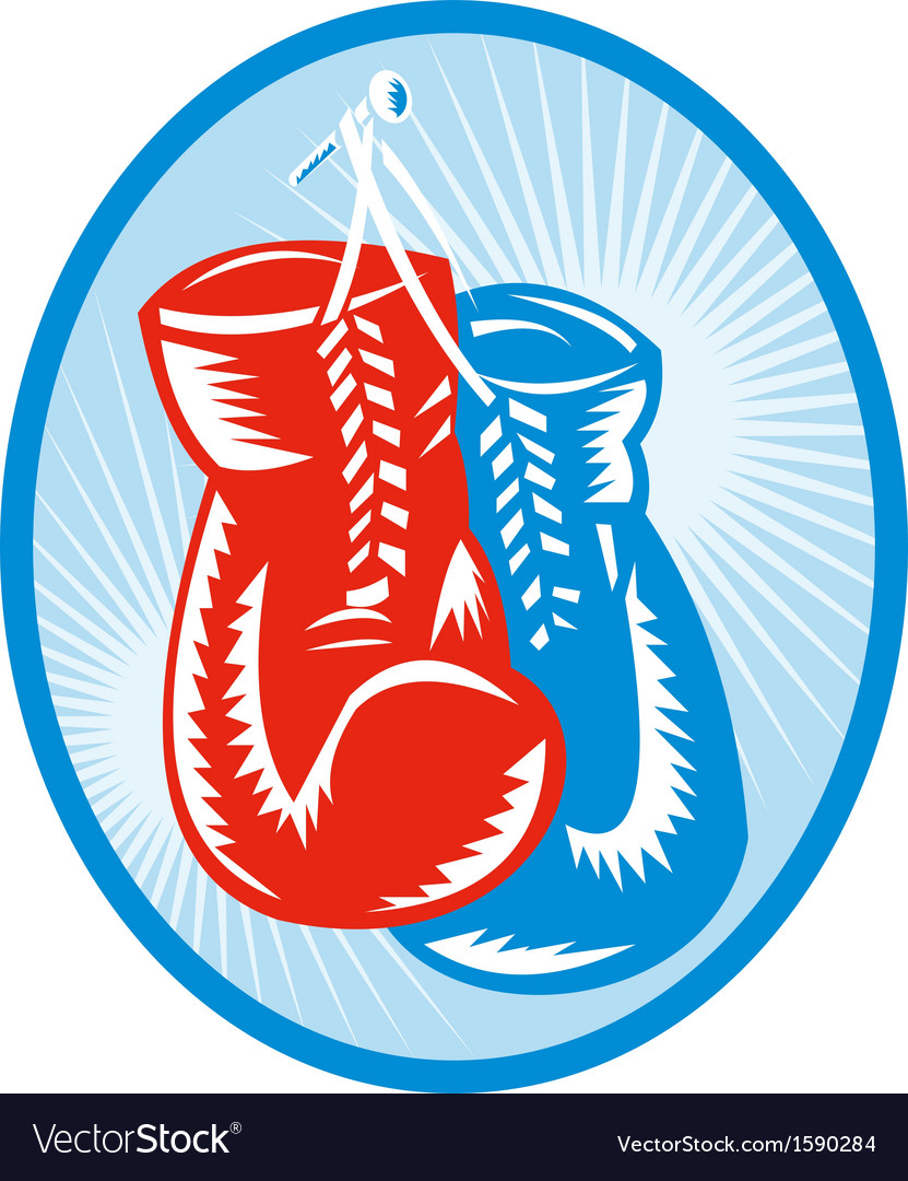 Red and blue boxing gloves vector | Price: 1 Credit (USD $1)
