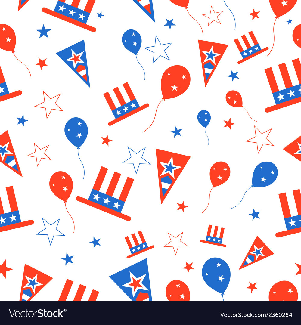 Seamless pattern for 4th of july vector | Price: 1 Credit (USD $1)