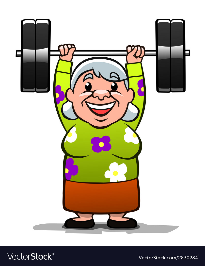 Strong old lady vector | Price: 1 Credit (USD $1)