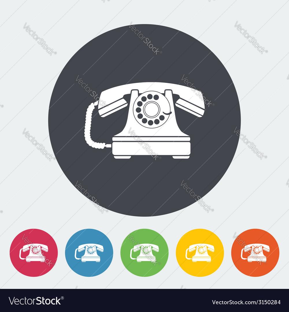 Vintage phone icon vector | Price: 1 Credit (USD $1)