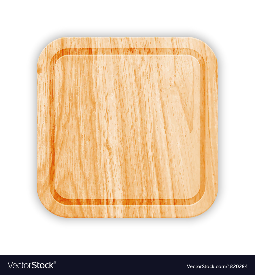 Wooden cutting board with groove vector | Price: 1 Credit (USD $1)