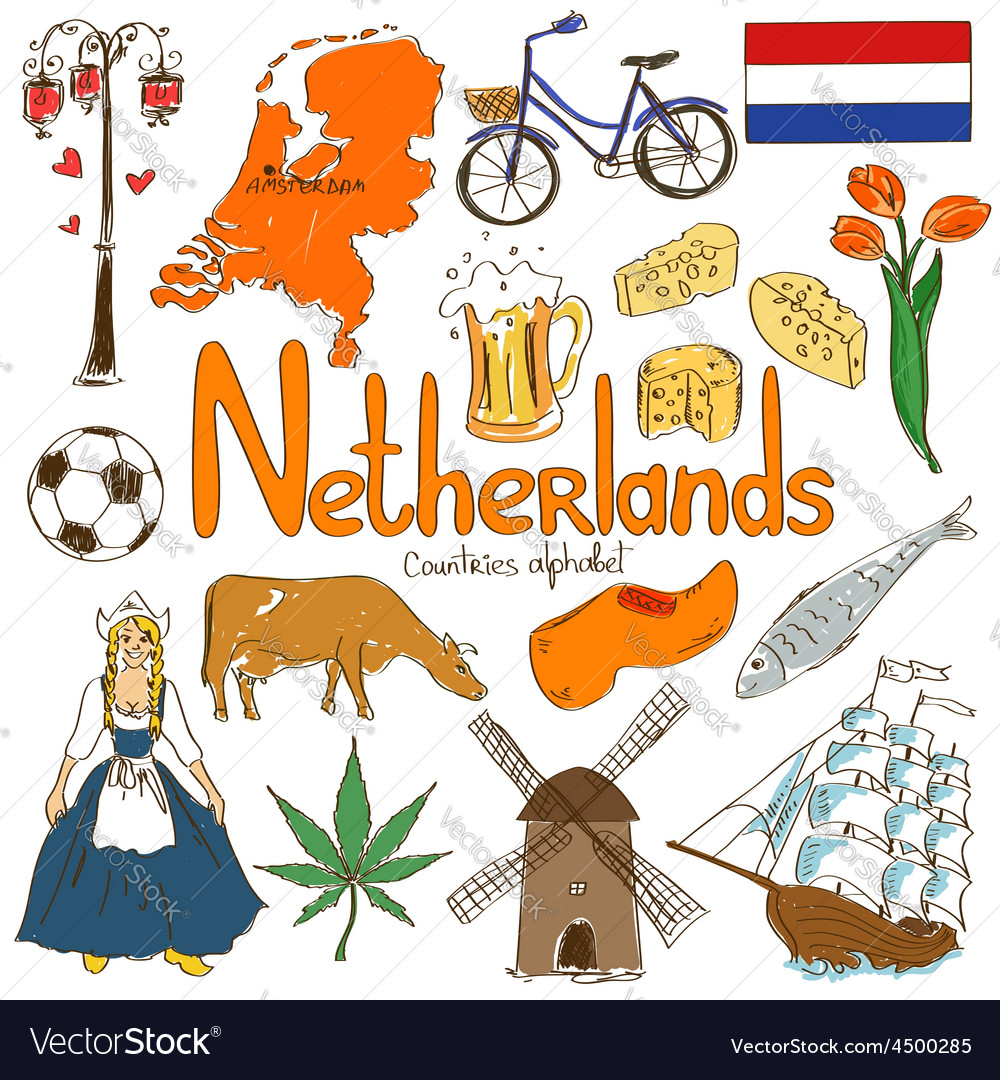 Collection of netherlands icons vector | Price: 1 Credit (USD $1)