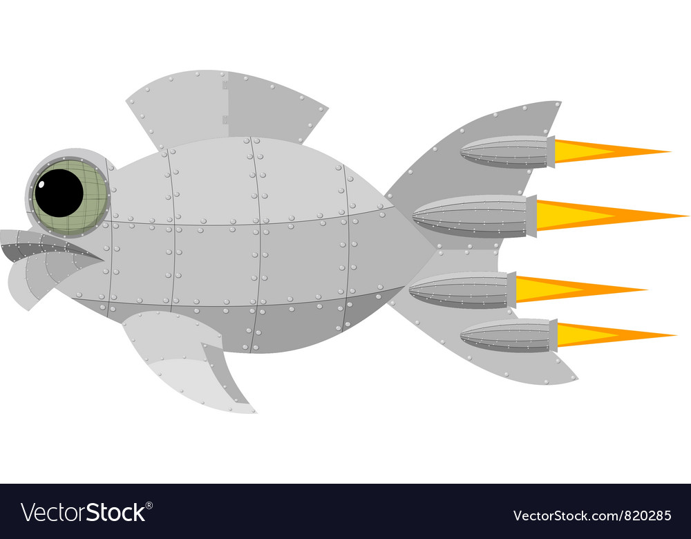 Fantastic metal fish vector | Price: 1 Credit (USD $1)