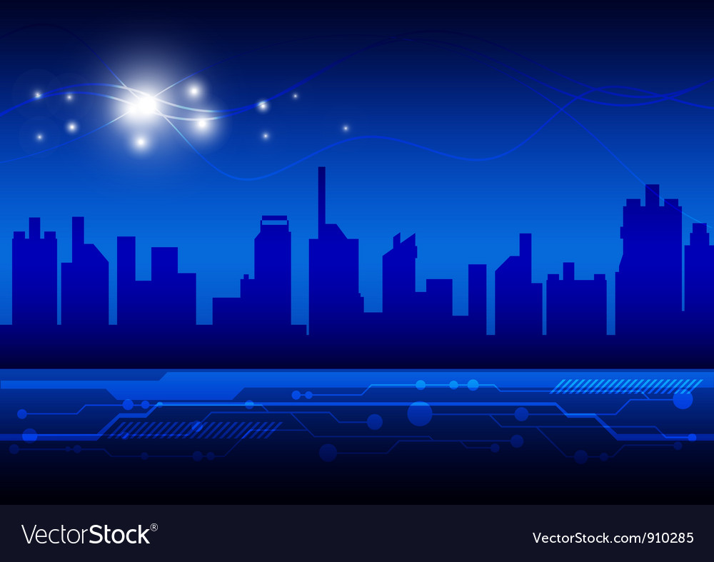 High technology city vector | Price: 1 Credit (USD $1)