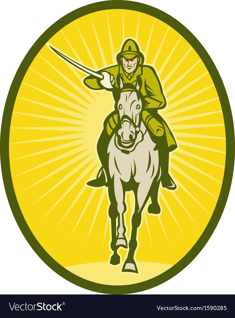 Hussar lighthorseman cavalry charging vector   Price: 1 Credit (USD $1)