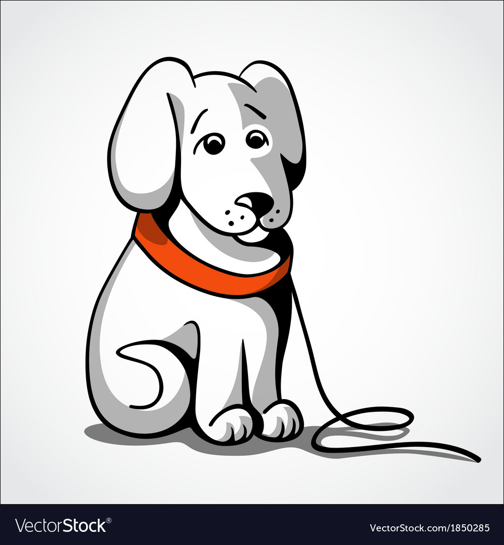 Lost sad dog vector | Price: 1 Credit (USD $1)