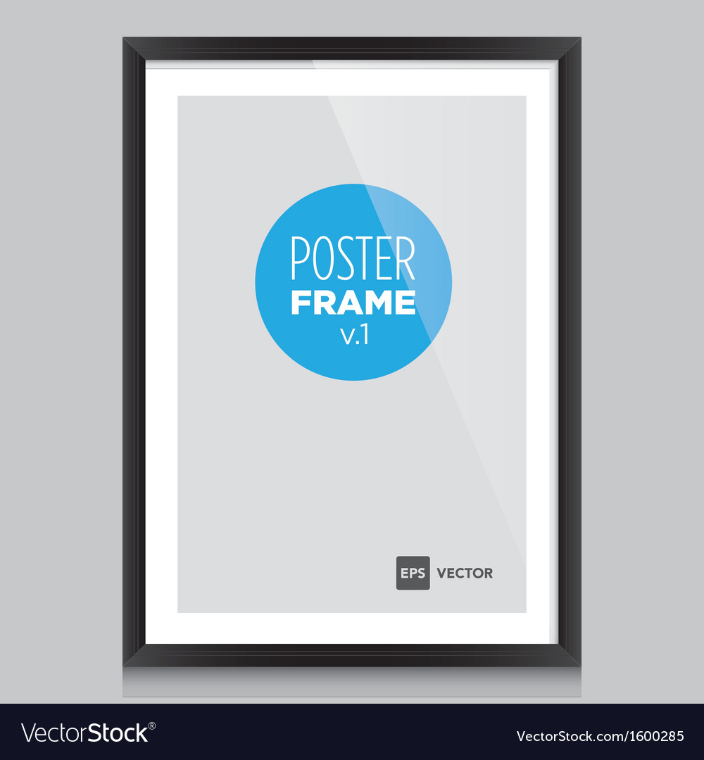 Poster frame black vector | Price: 1 Credit (USD $1)