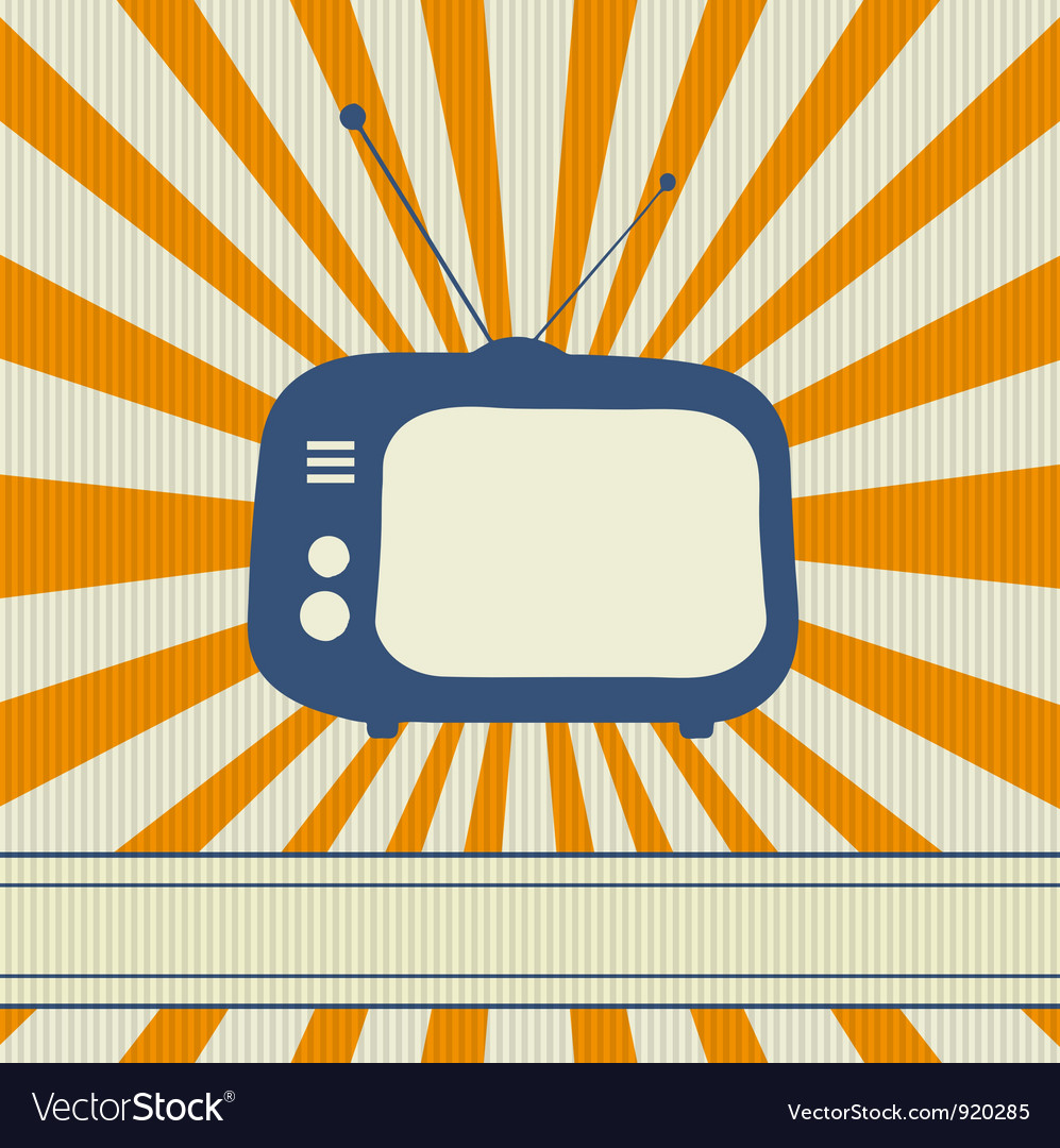 Retro tv background vector | Price: 1 Credit (USD $1)
