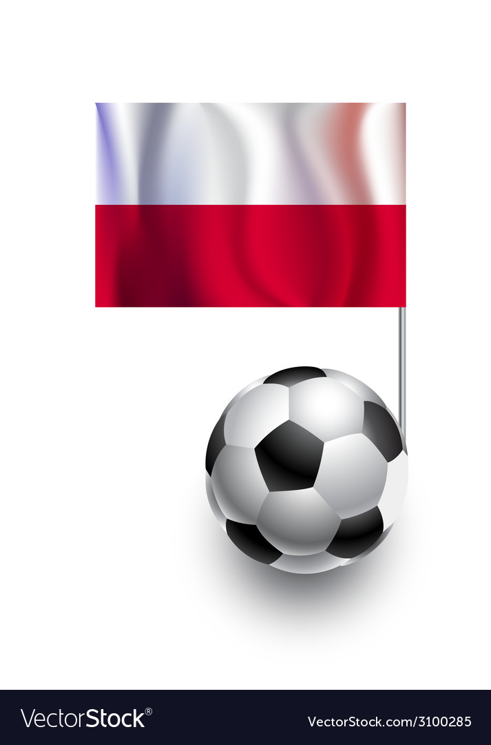 Soccer balls or footballs with flag of poland vector | Price: 1 Credit (USD $1)