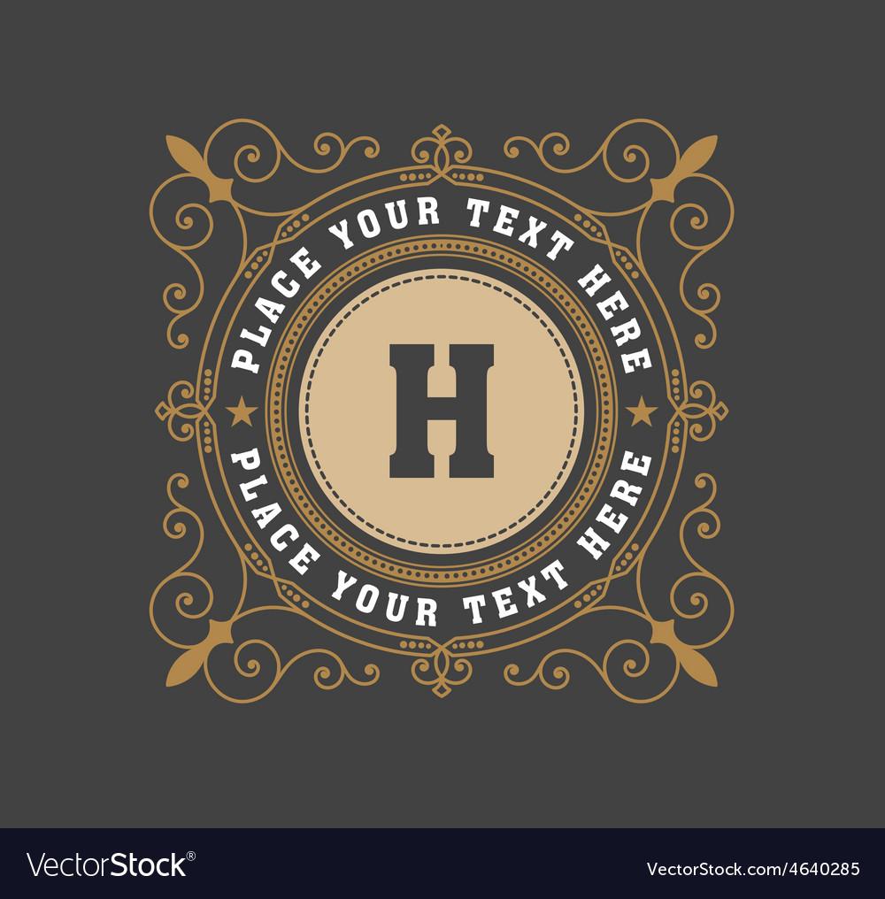Vintage logo template hotel restaurant business vector | Price: 1 Credit (USD $1)