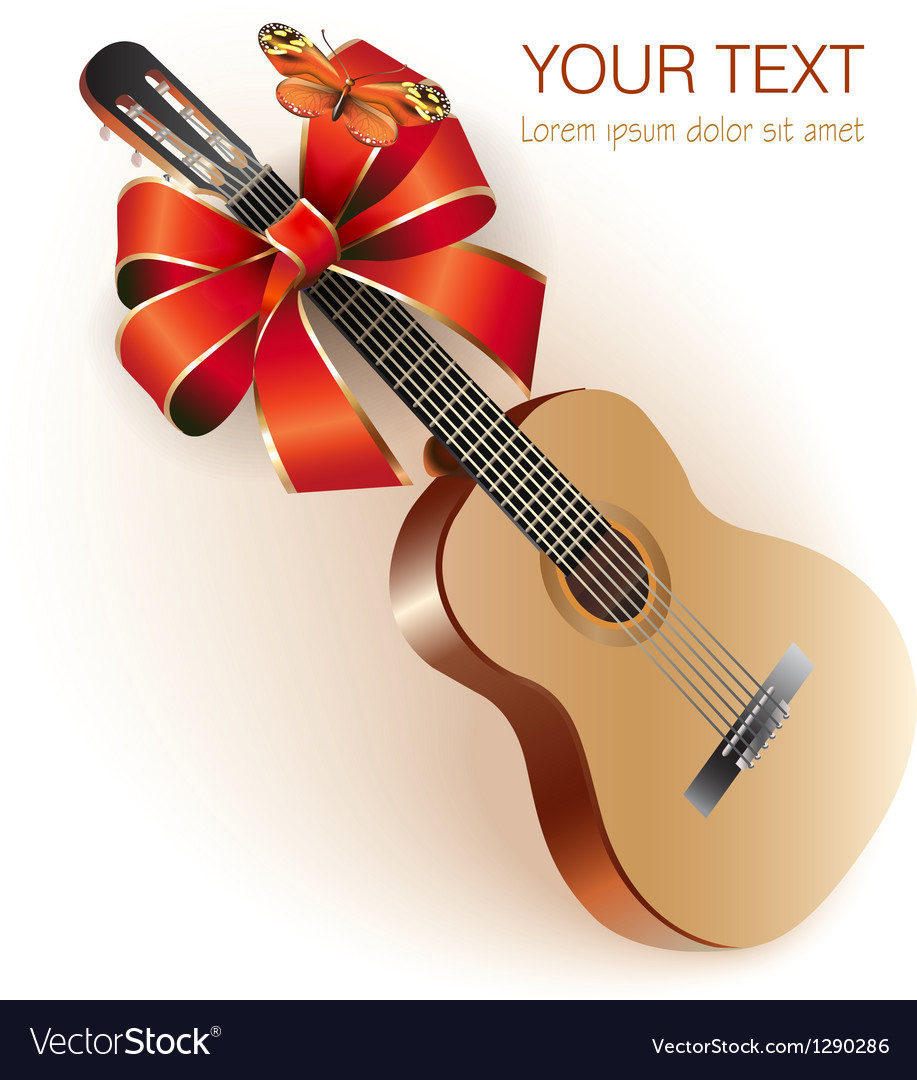 Classical spanish guitar vector | Price: 3 Credit (USD $3)
