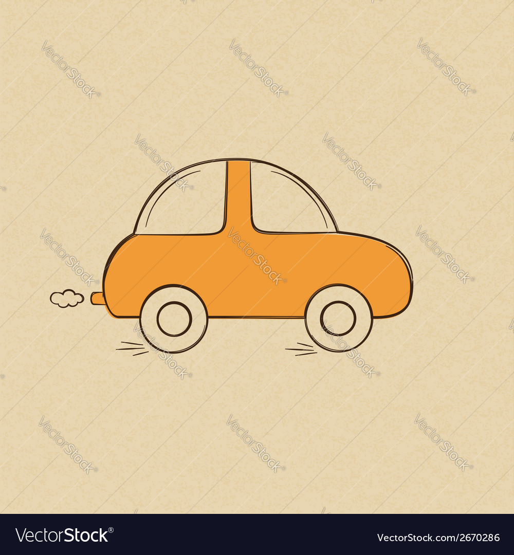 Doodle drawing of a car vector | Price: 1 Credit (USD $1)