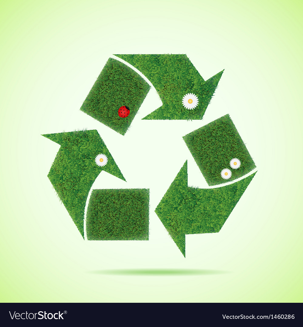 Grass recycle icon vector | Price: 1 Credit (USD $1)