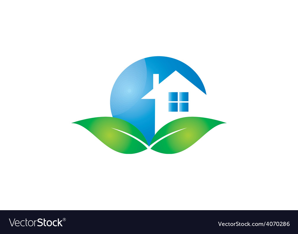 Home realty ecology logo vector | Price: 1 Credit (USD $1)