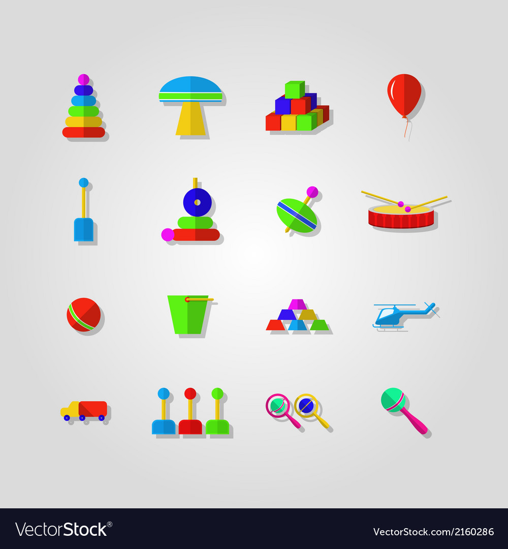 Icons for children toys vector   Price: 1 Credit (USD $1)