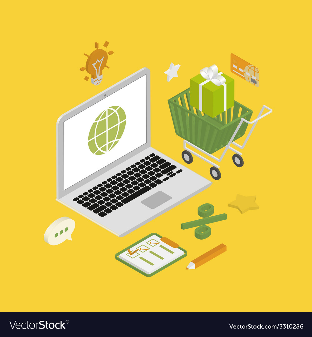Online shopping vector | Price: 1 Credit (USD $1)