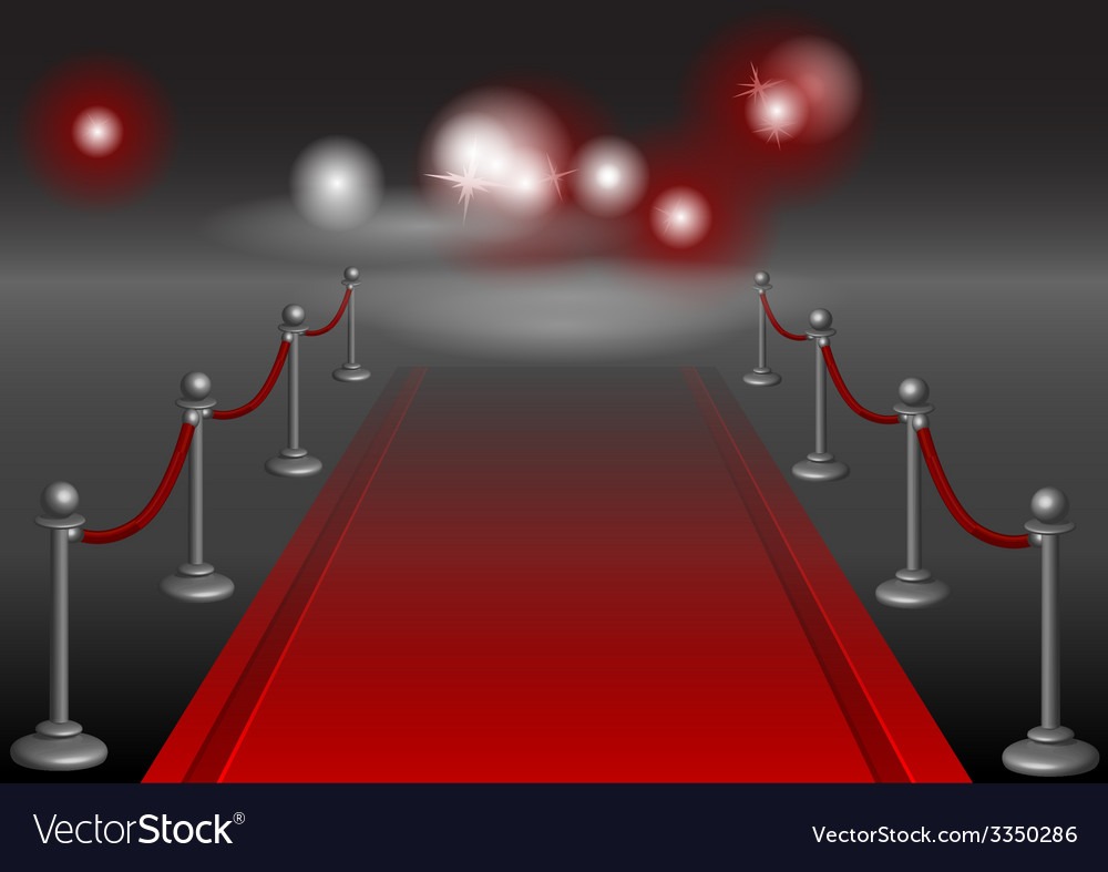 Red carpet vector | Price: 1 Credit (USD $1)