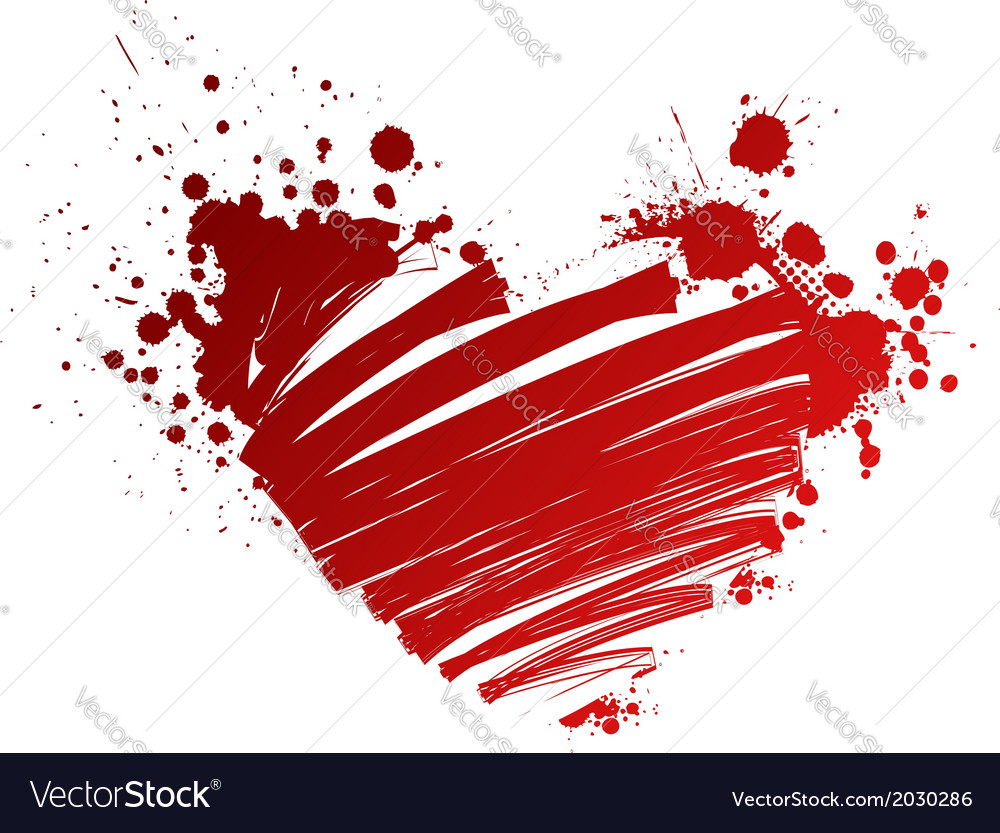 Red heart grungy vector | Price: 1 Credit (USD $1)