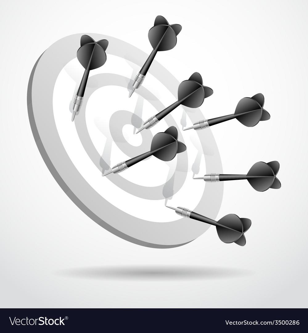 Set of darts black game concept sport vector | Price: 1 Credit (USD $1)