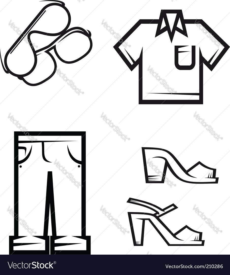 Set of people cloth vector | Price: 1 Credit (USD $1)