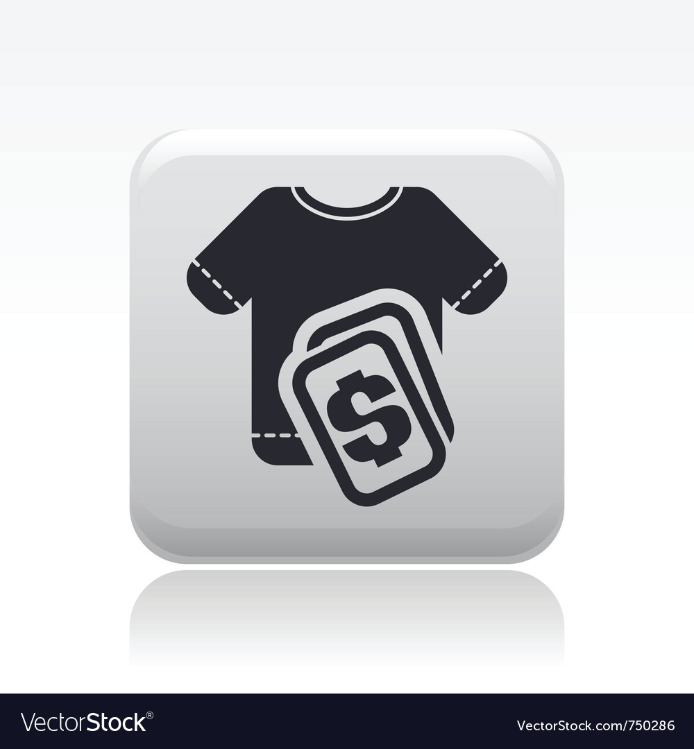 Tshirt sale icon vector | Price: 1 Credit (USD $1)