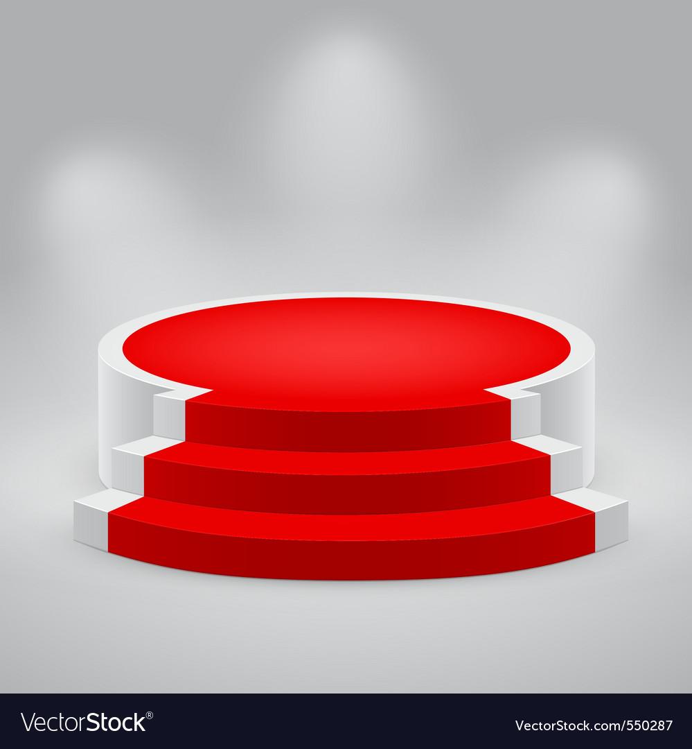 3d podium carpet vector | Price: 1 Credit (USD $1)