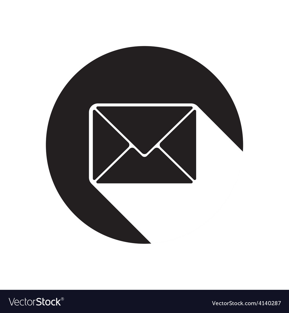 Black icon with mailing envelope and stylized vector | Price: 1 Credit (USD $1)
