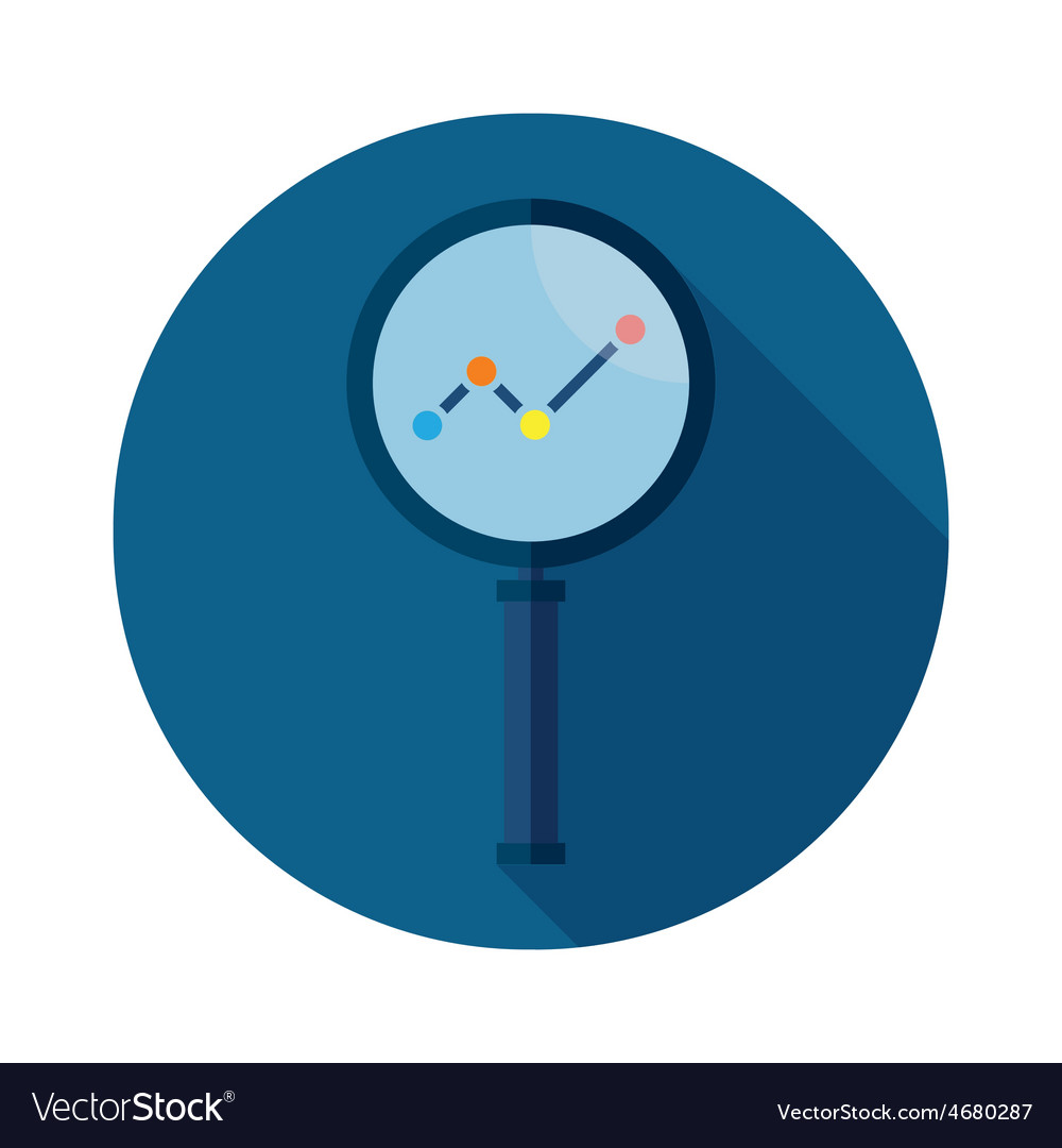 Business analysis symbol with magnifying glass ico vector | Price: 1 Credit (USD $1)
