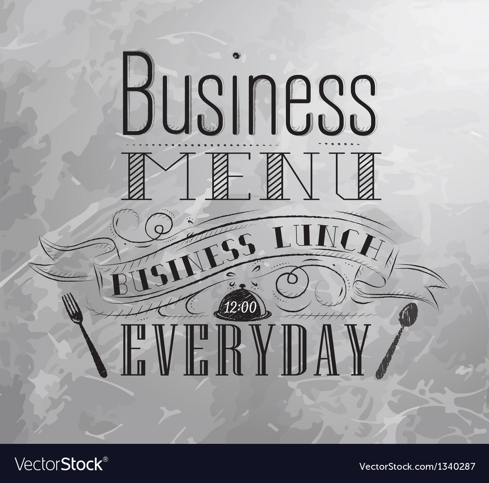 Business lunch coal vector | Price: 1 Credit (USD $1)
