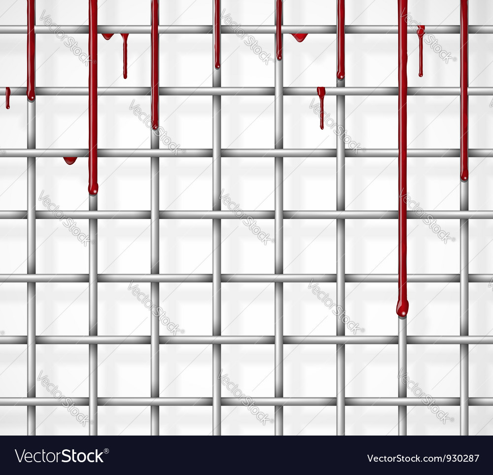 Cage with blood vector | Price: 1 Credit (USD $1)