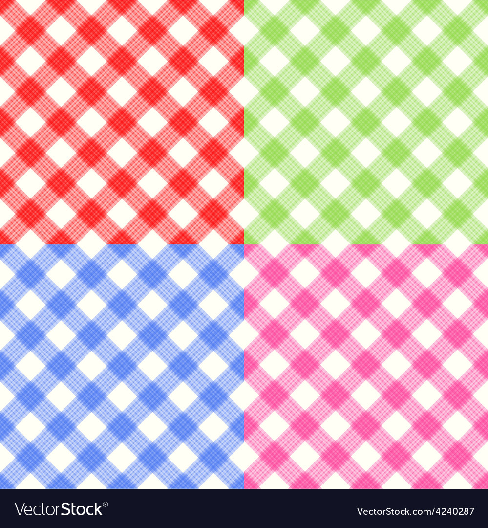 Checkerboard tablecloth seamless pattern vector | Price: 1 Credit (USD $1)
