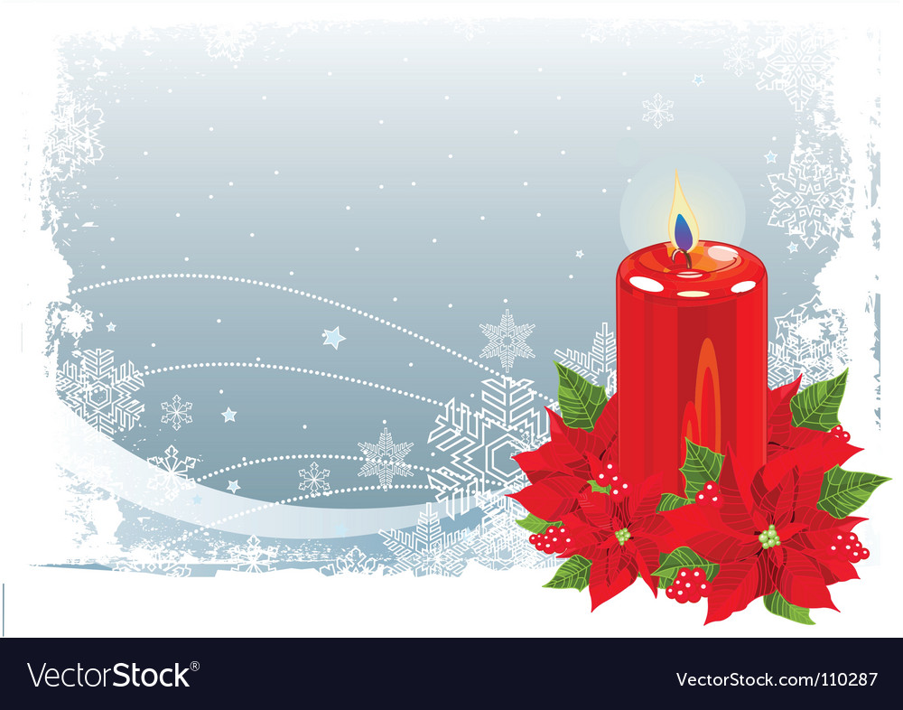 Christmas candle vector | Price: 1 Credit (USD $1)