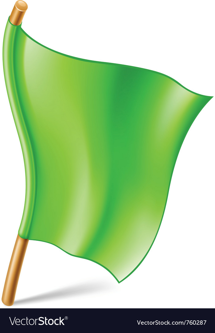 Green flag vector | Price: 3 Credit (USD $3)