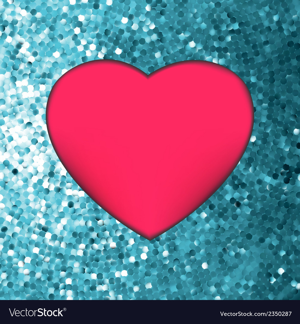 Heart on glitter light valentines day eps 8 vector | Price: 1 Credit (USD $1)